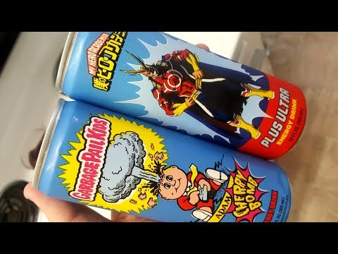Garbage Pail Kids Adam Cherry Bomb Energy Drink Vs My Hero Academia Plus Ultra Energy Drink