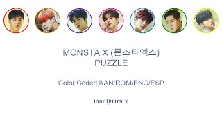 Monsta X  몬스타엑스  - Puzzle  Color Coded Kan/rom/eng/esp Lyrics