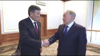 Жээнбеков встретился с Назарбаевым