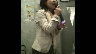 春なので歌ってみました^^ 4月19日 退院間近記念のカラオケ店にて.