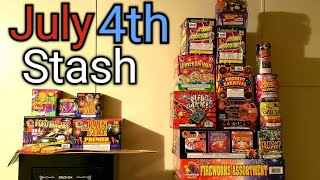 My 4th of July Fireworks Stash 2021
