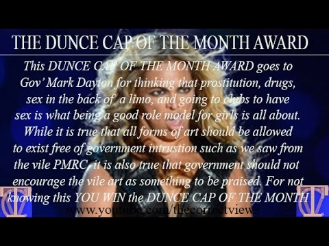"THE CORRECT VIEWS (6/10/2016) - The DUNCE CAP OF THE MONTH for Mark Dayton AND VERY Funny ""Runner..."