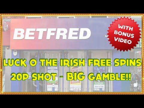Luck O' the Irish Free Spins & 20p Shot with BIG GAMBLE!!