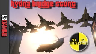 One of N&B Gaming's most viewed videos: The Hydra Bridge Stunt - San Andreas Test Dummies Ep. 39 - GTA 5 Funny Moments and Stunts