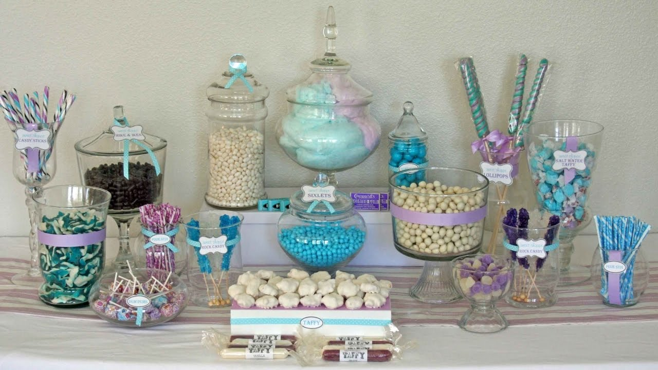 diy candy buffet decorating ideas for wedding youtube