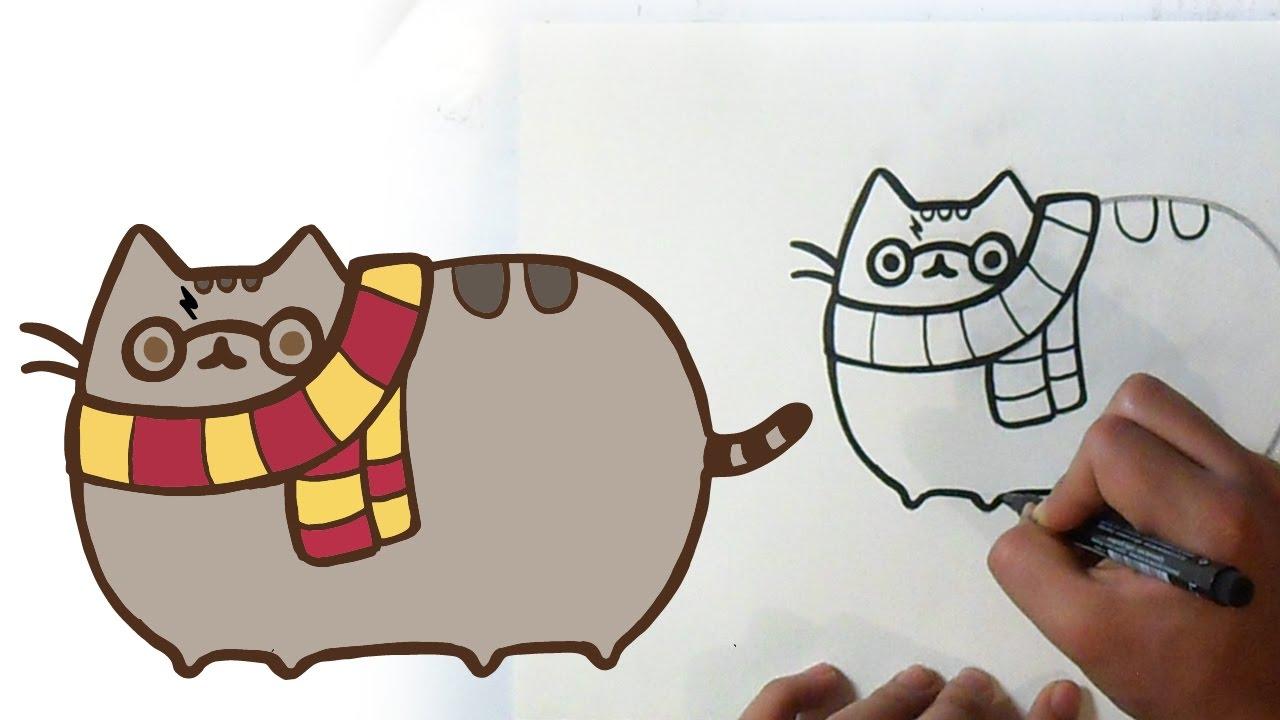 Cómo Dibujar A Pusheen The Cat Potter