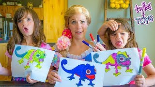 Download 3 Marker Challenge with PRINCESS RAPUNZEL!! Mp3 and Videos