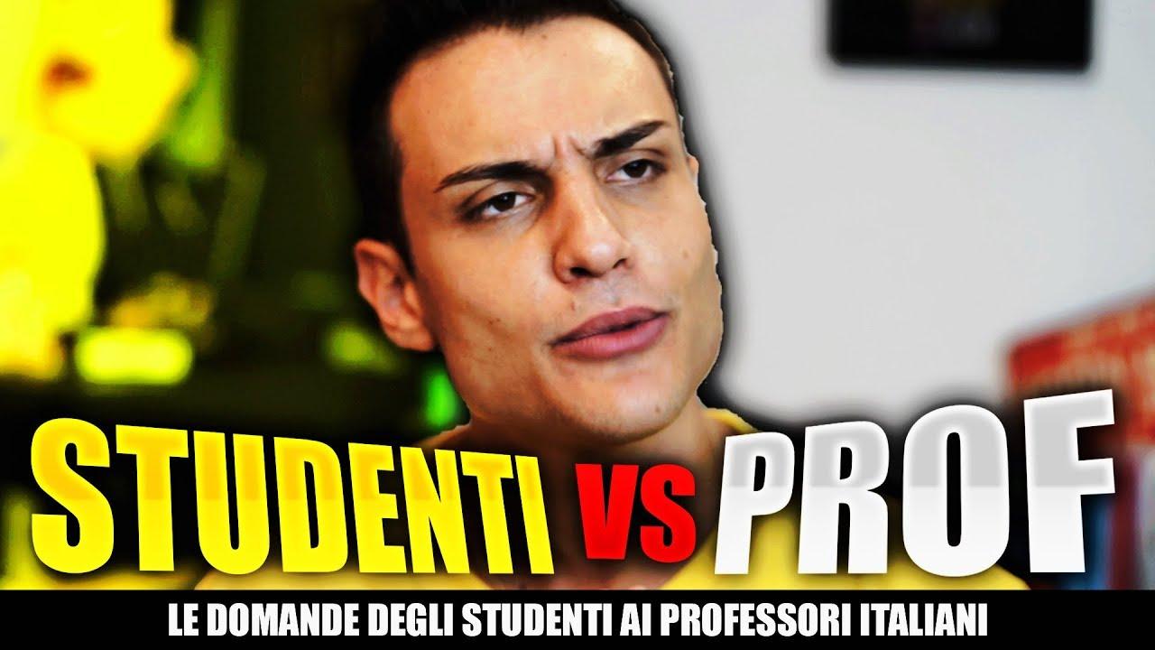 Le DOMANDE degli STUDENTI ai PROFESSORI