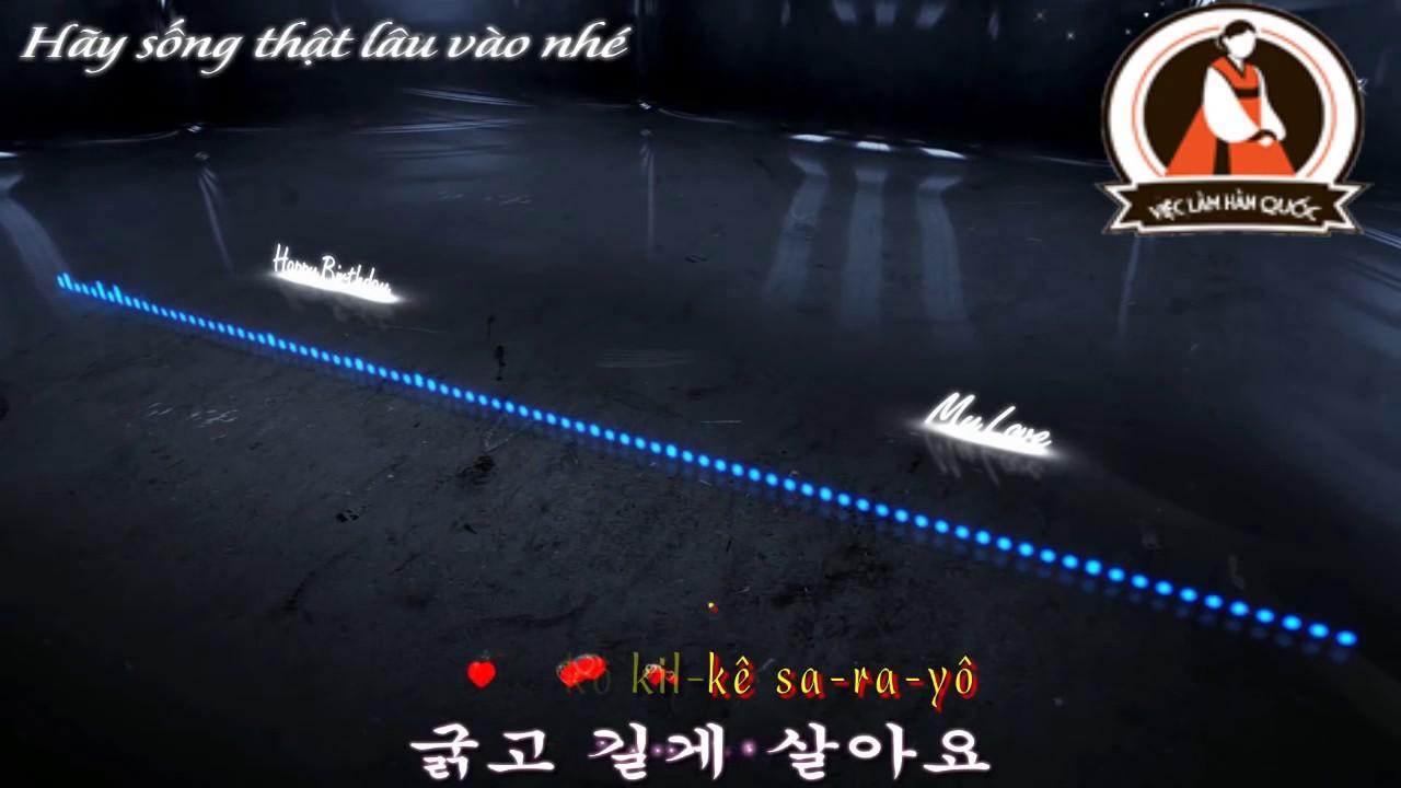 Bài hát chúc mừng sinh nhật bằng tiếng Hàn