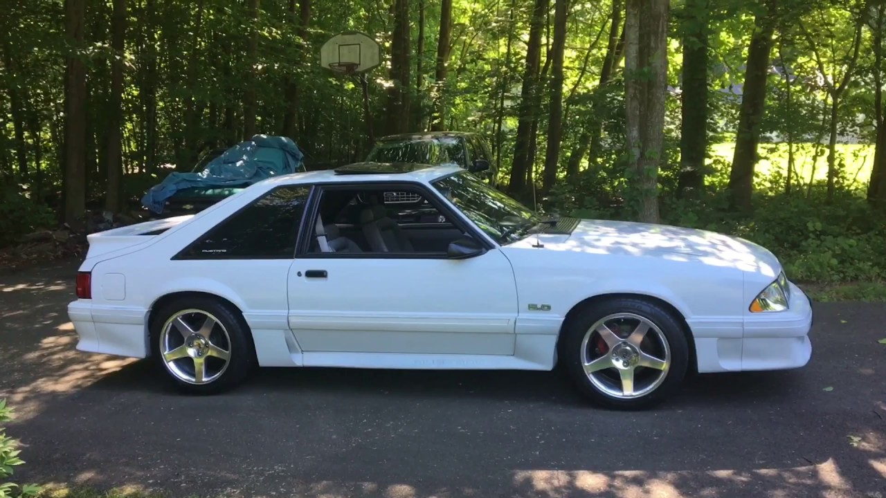 1990 Foxbody Mustang with 2003 Cobra Wheels - YouTube