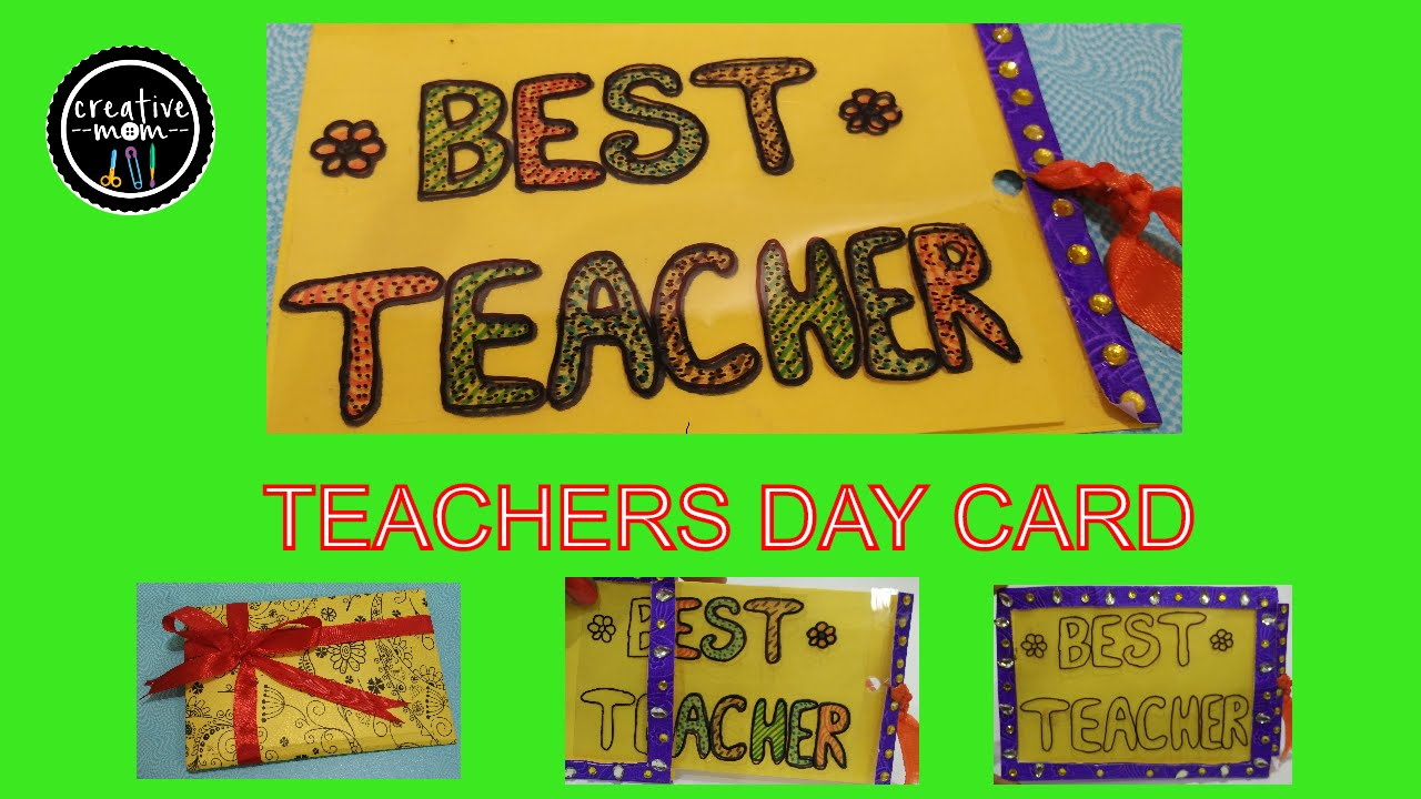 MAGIC CARD FOR TEACHER ON TEACHERS DAY | CARD MAKING COMPEION ...