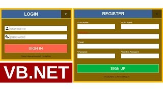 VB.Net - How To Create Login And Register Form With MySQL DataBase In VB.Net