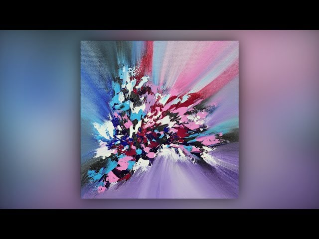 Abstract Art / Painting Technique / Acrylics / Colorful / Demo #014