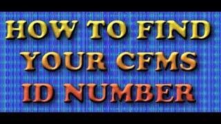 WIE FINDEN SIE IHRE CFMS-ID-NUMMER AP