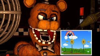 FNAF Withered Freddy Rages Playing Chica Rainbow Minigame