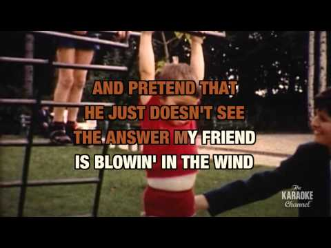 Blowin' In The Wind in the style of Peter, Paul & Mary | Karaoke with Lyrics