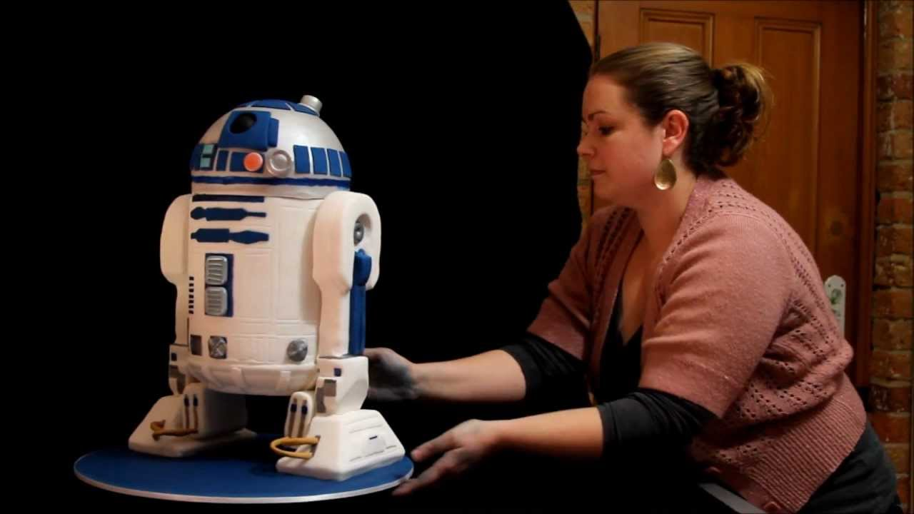 R2d2 Cake With Step By Step Photos Youtube