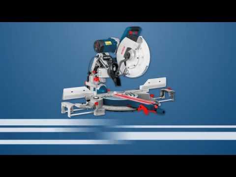 bosch sliding mitre saw gcm 12 gdl professional youtube. Black Bedroom Furniture Sets. Home Design Ideas