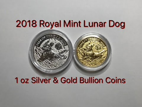 "2018 Royal Mint Lunar ""Zombie"" Dog 1 oz Silver & Gold Bullion Coins"