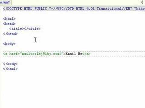 HTML Mailto - YouTube