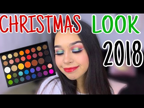 2018 CHRISTMAS LOOK USING JAMES CHARLES PALETTE , YouTube