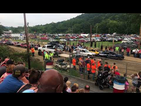 Huntingdon County Fair Demolition Derby 2018