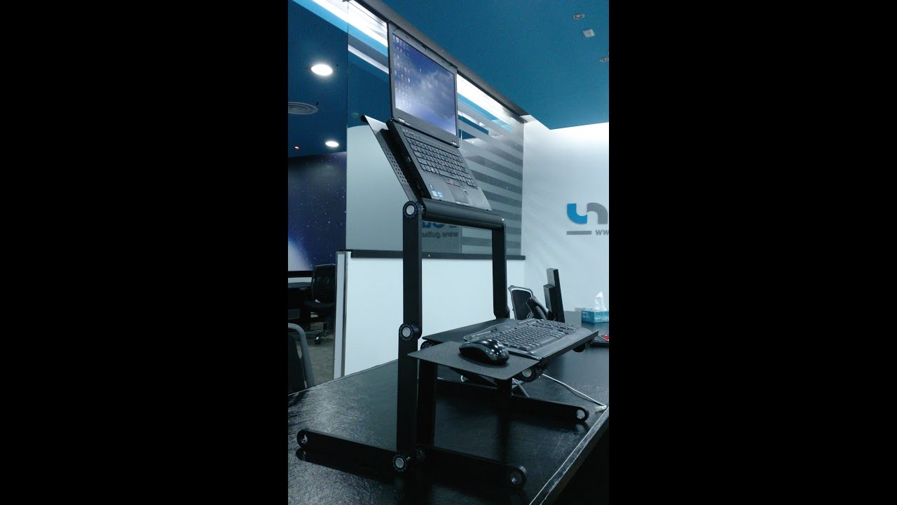 Unboxing setup and review of the WorkEZ Standing Desk Baba