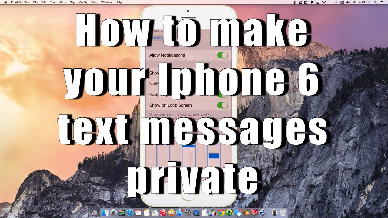 how to make messages private on iphone 5 how to make your iphone 6 text messages 2723