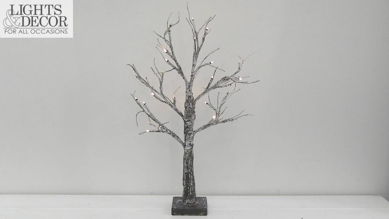 Lighted Birch Led Tabletop Tree