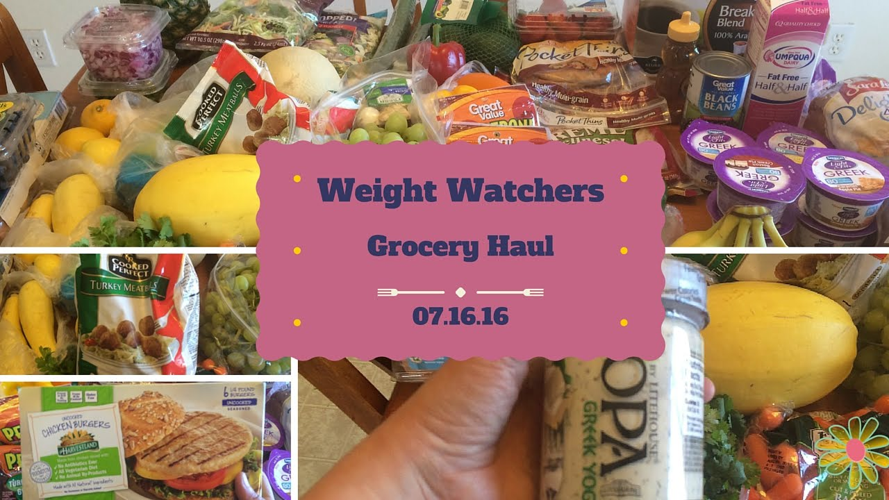 Weight Watchers Smart Points | Grocery Haul & Meal Plan | 07.16.16 ...