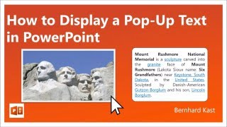 How to Display a Popup Text in PowerPoint