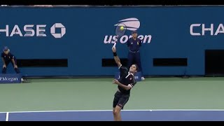 Roger Federer Crushes Grigor Dimitrov's Backhand Lob with an Overhead Slam | US Open 2019 Hot Shots