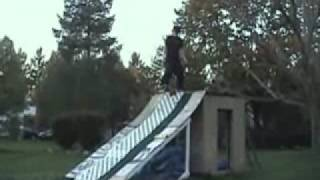 Backyard Snowboarding In Summer
