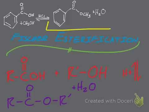 Fischer Esterification of Benzoic Acid & Methanol in HCl (RXN Mechanism)