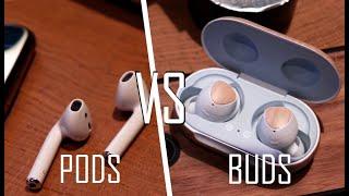 Galaxy Buds vs Apple Airpods : საუკეთესო უსადენო ყურსასმენების შედარება