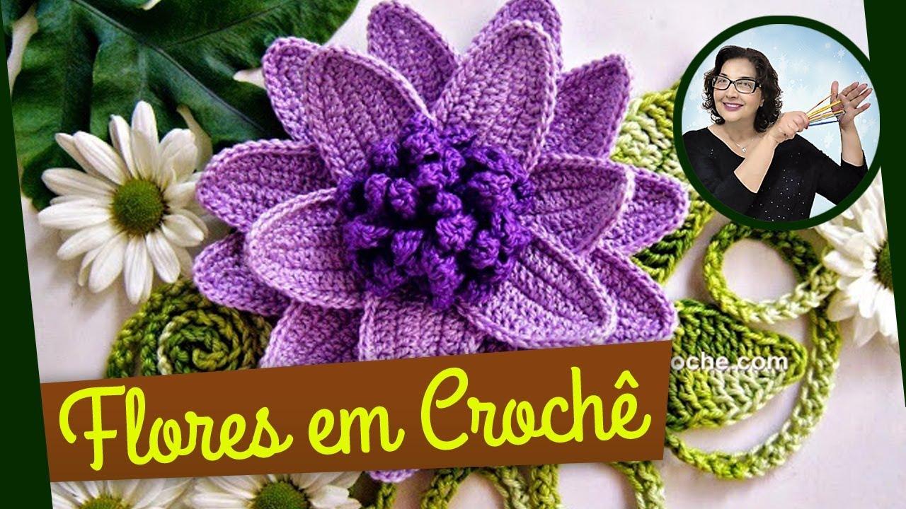 Flores Em Croche Repolhuda Parte 2 Youtube