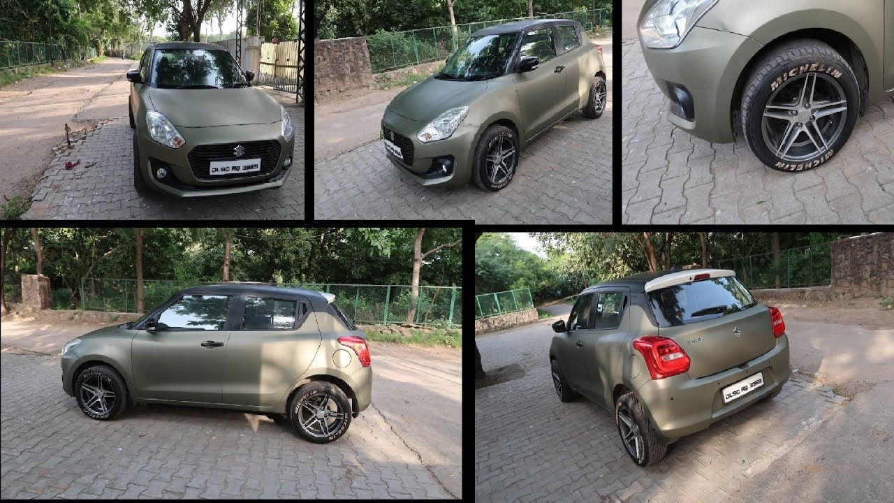 Wrapped New Swift | Military Colour Wrapping in Swift | Full Car Wrapping  Cost | Car Wrapped