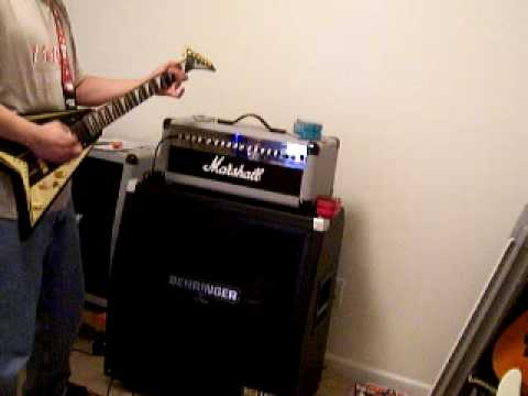 MARSHALL MG100HDFX WITH BEHRINGER 412S Cabinet - YouTube