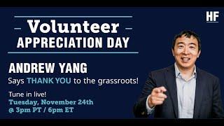Volunteer Appreciation Hang | Andrew Yang