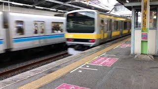 E231系900番台発車 東京メトロ東西線05系到着