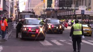 NFL Super Bowl XLVIII NYPD and more responding police cars New York 2014 HD ©