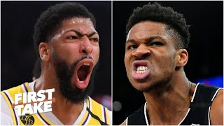 Giannis or Anthony Davis: Which NBA star would you rather have in the playoffs? | First Take