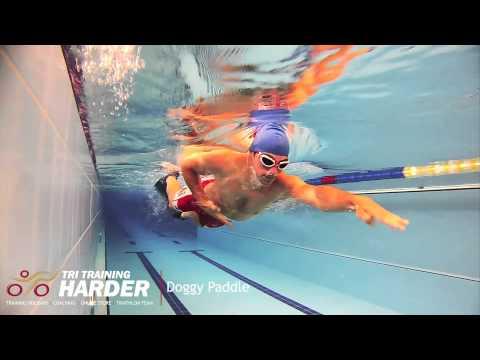 Tri Training Harder Swim Drills --Doggy Paddle