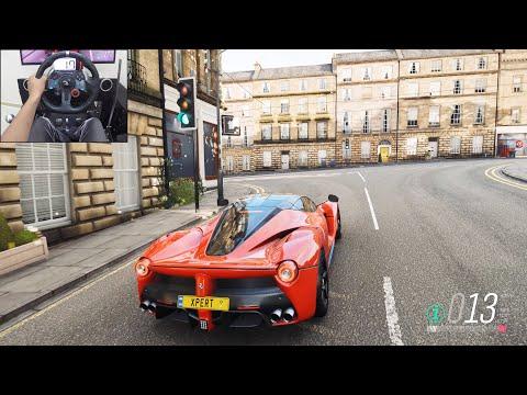LaFerrari  Forza Horizon 4   Logitech g29 gameplay