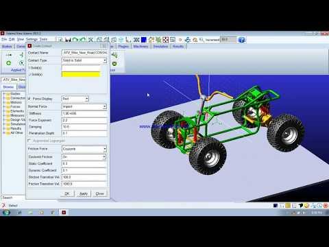 All Terrain Vehicle Simulation using MSC ADAMS