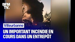 Un important incendie dans un entrepôt à Villeurbanne