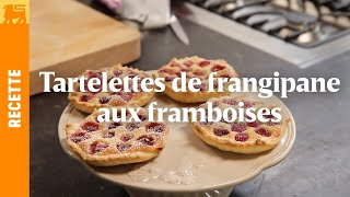Tartelettes de frangipane aux framboises