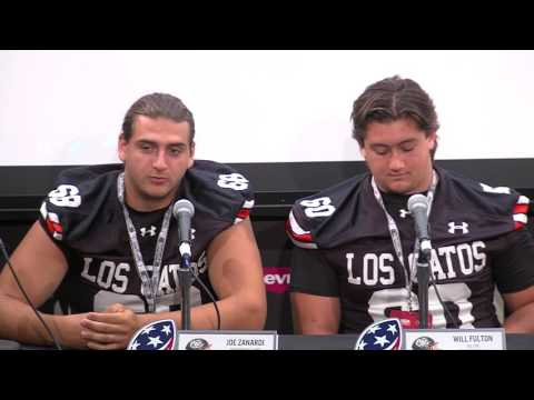 Los Gatos High School at 49ers Media Day