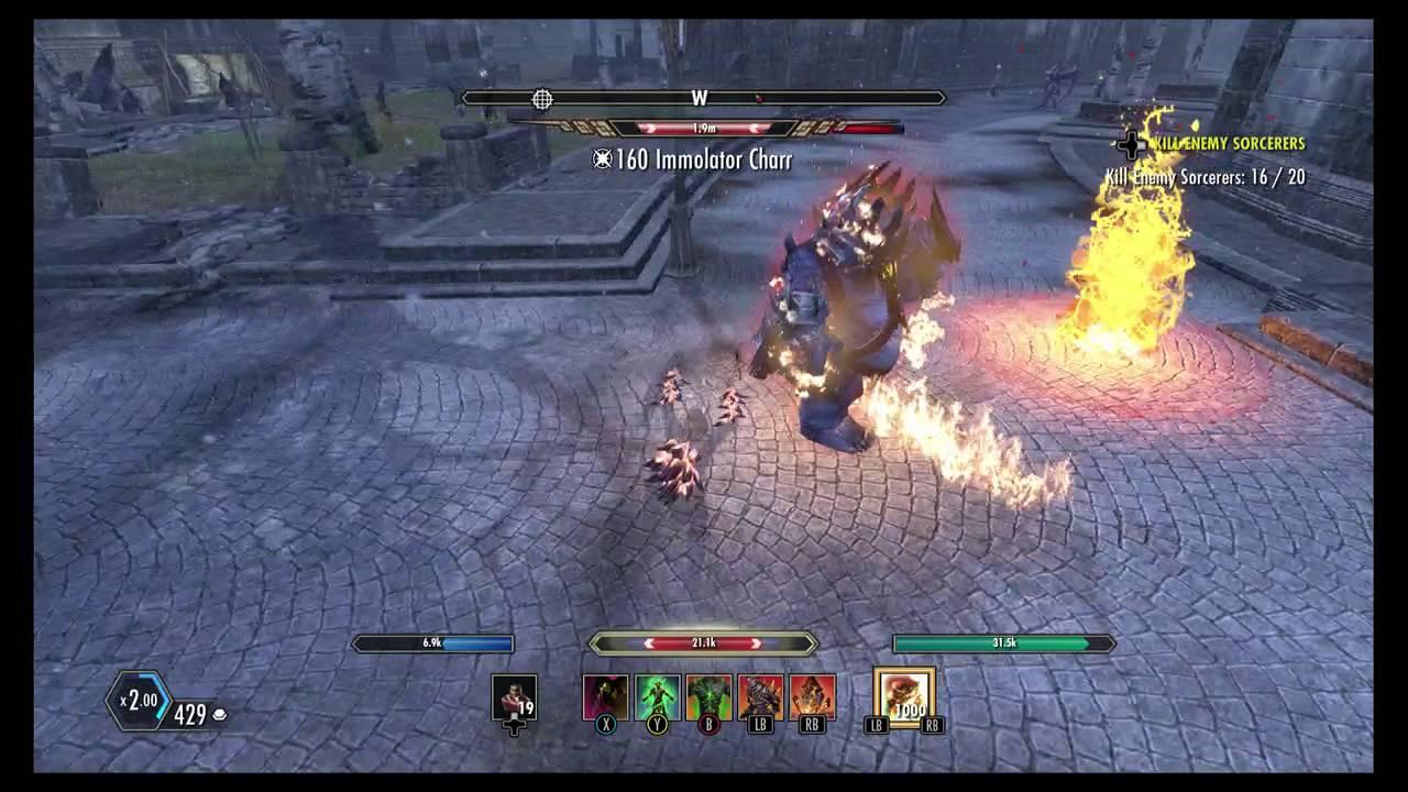 ESO- Level 33 Vs  Immolator Charr