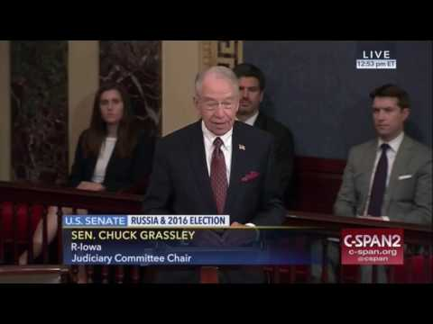 Chuck Grassley Slams Senator  Schumer for misleading the public on Russia probe